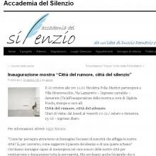 """18/10/2013 - Inaugurazione mostra """"Città del rumore, città del silenzio"""""""