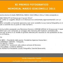 28/10/2011 - MEMORIAL MARIO GIACOMELLI 2011